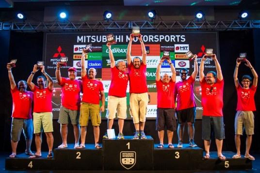 Pódio da categoria Master, campeonato Nordeste 2018 (Foto: Adriano Carrapato/Mitsubishi)