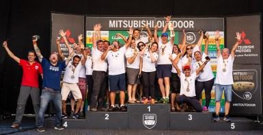 Pódio da categoria Fun (Foto: Tom Papp / Mitsubishi)