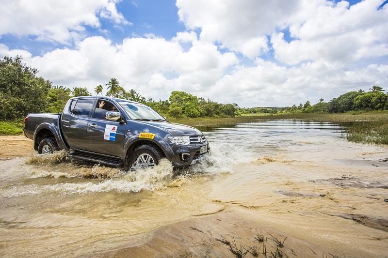 4x4 é testado em todas as condições (Foto: Helora Moraes / Mitsubishi)