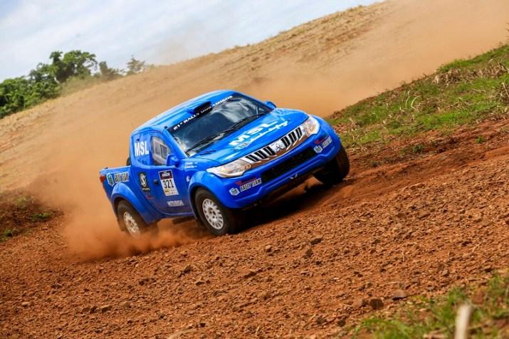 Sandra voltou a acelerar no Rally Cross Country (Luciano Santos/DFotos)