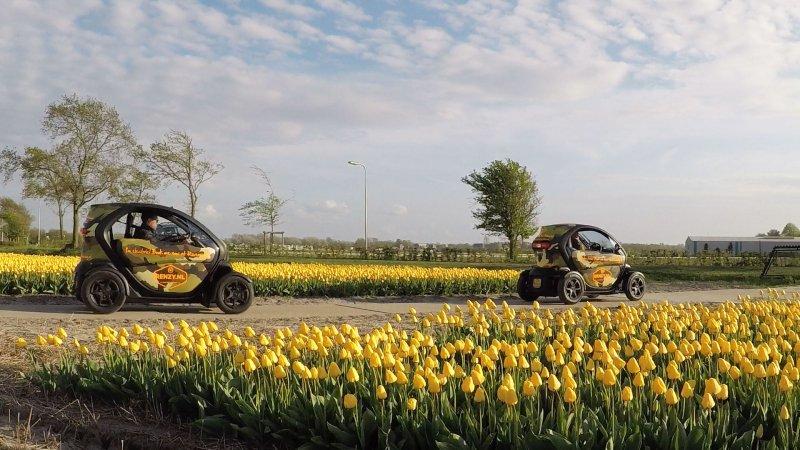 Electric Twizy tour tulip fields
