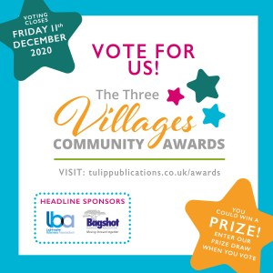 Vote for us post - The Three Villages Awards