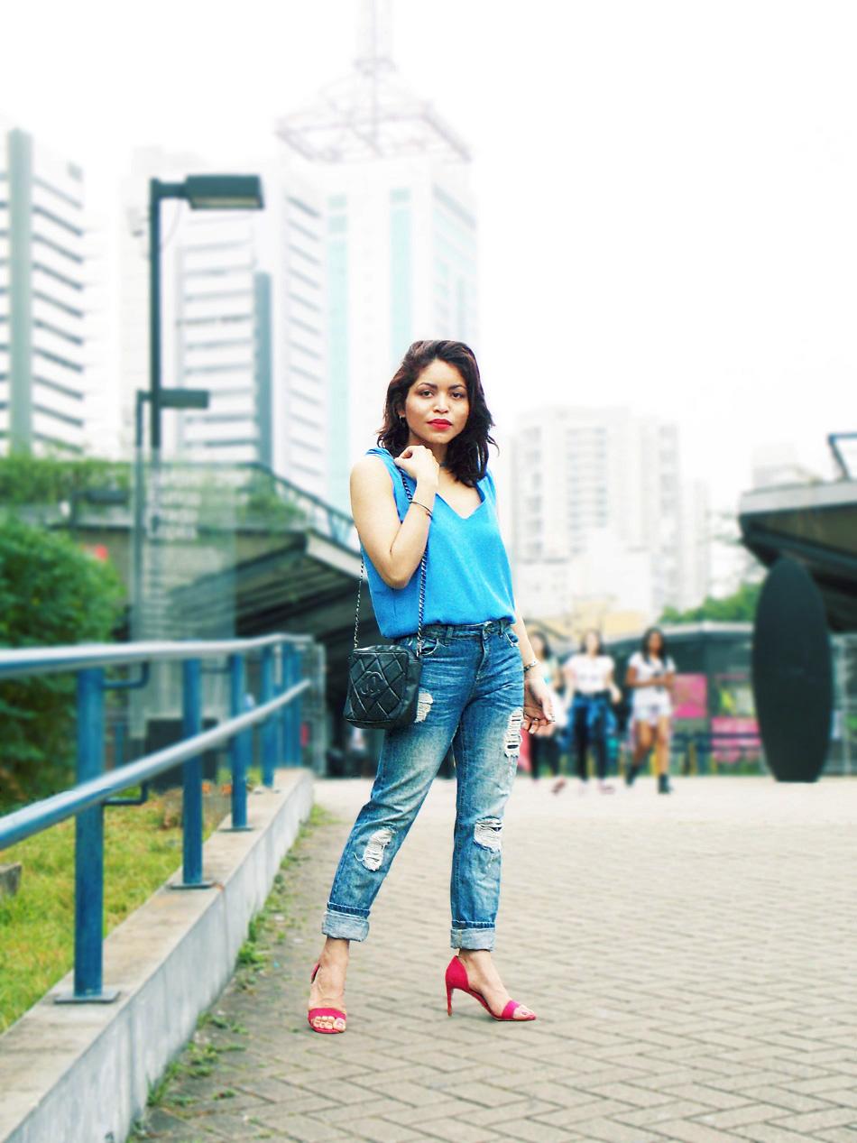 magenta-heels-and-blue-top