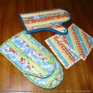 Quilt As You Go Oven Mitts