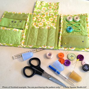 Tri Fold Sewing Caddy-tulip-square-quilt-patterns