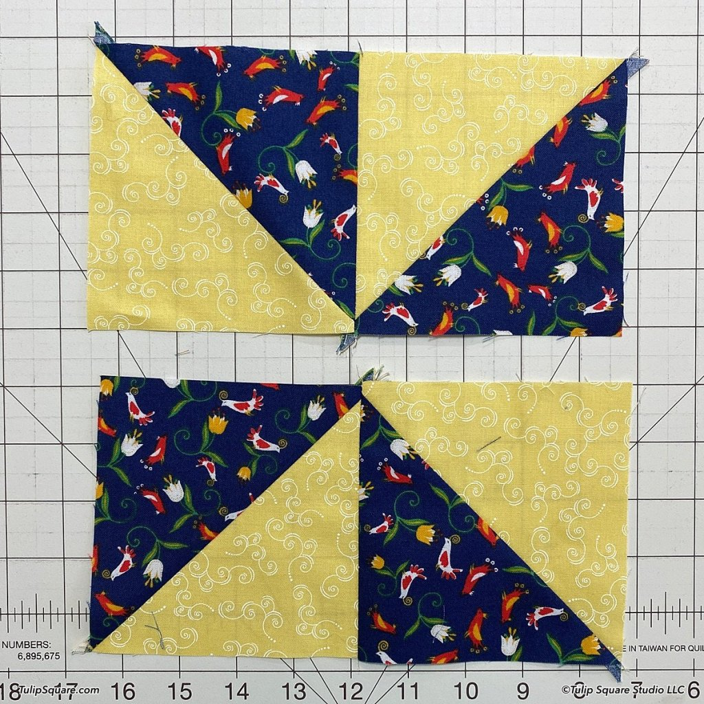 How to make disappearing windmills quilt blocks step 6