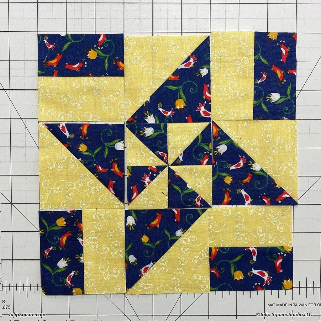 How to make disappearing windmills quilt blocks step 10