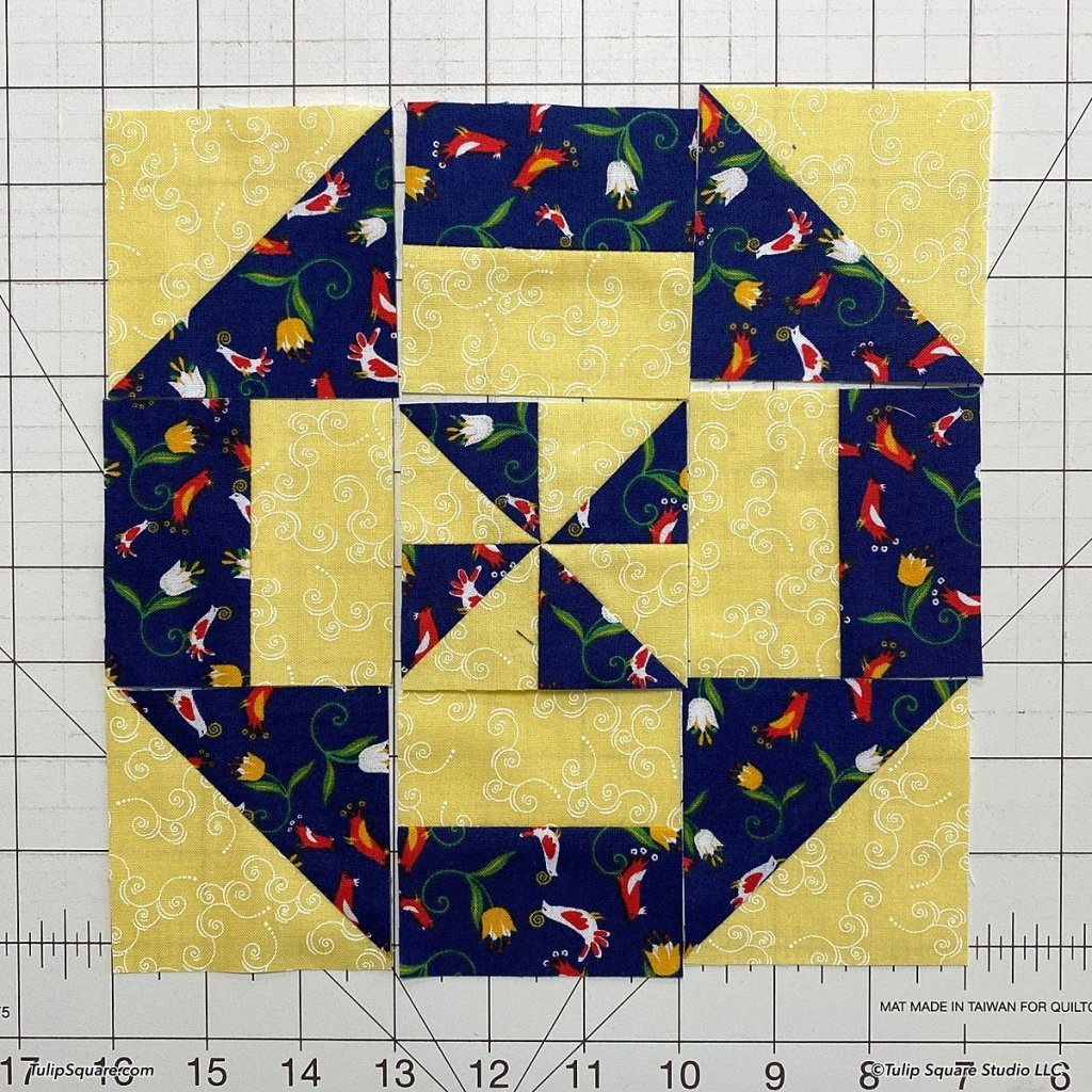 How to make disappearing windmills quilt blocks step 11
