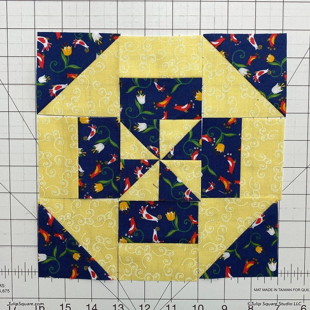 How to make disappearing windmills quilt blocks step 12