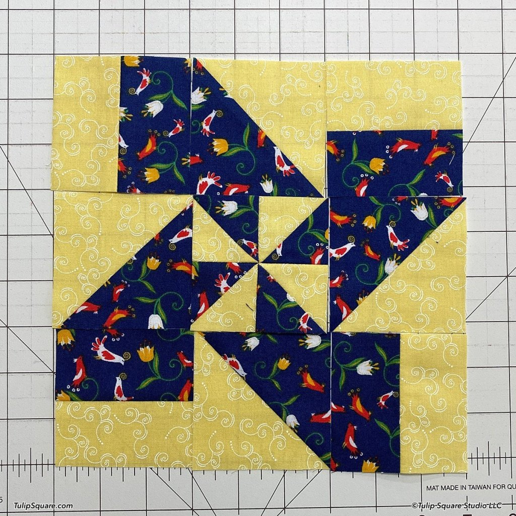 How to make disappearing windmills quilt blocks step 13