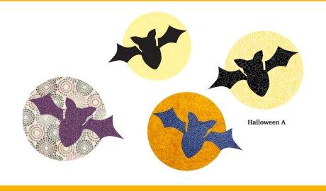 Halloween bat appliqué pattern for free