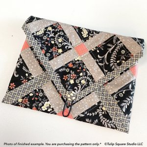 Envelope Style Tablet Tote Quilted Bag Pattern