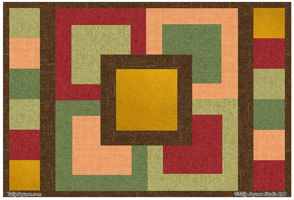 STACKED SQUARES AUTUMN QUILTED PLACEMAT PATTERN
