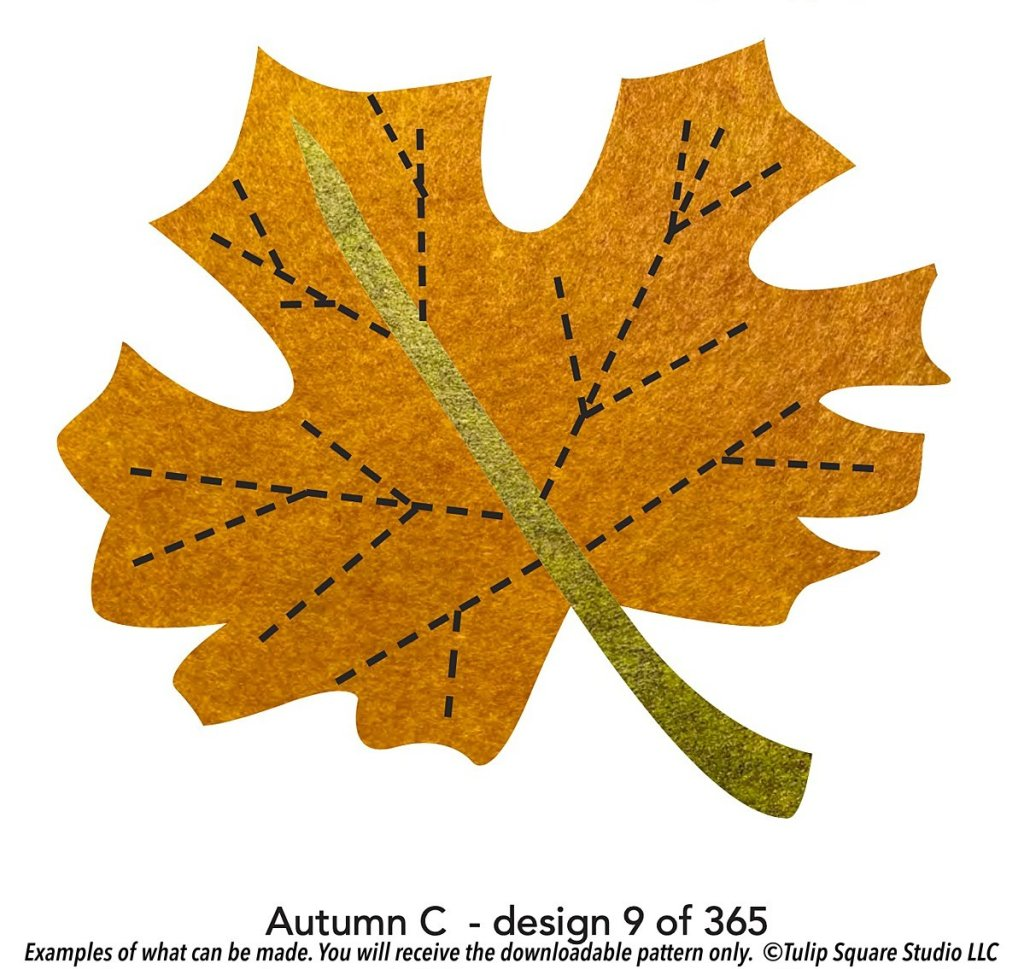 Graphic of a stylized classic maple leaf in golden-orange color for autumn