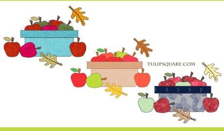 Autumn Apple Basket Free Appliqué Pattern