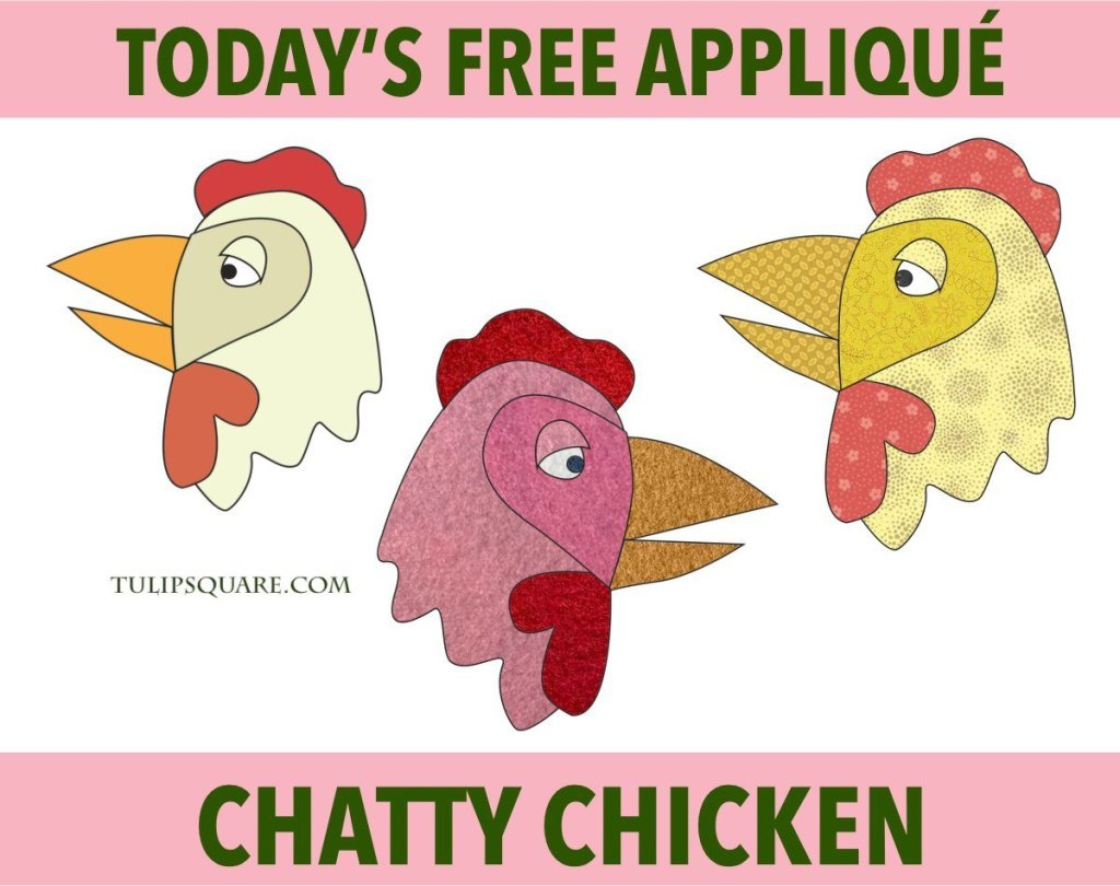 Free Chicken Appliqué Pattern - Chatty Chicken