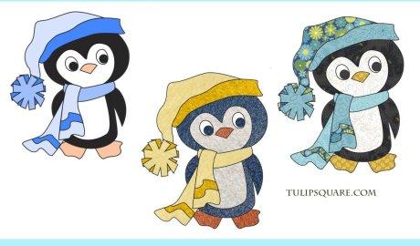 Free Appliqué Pattern - Cute Winter Penguin