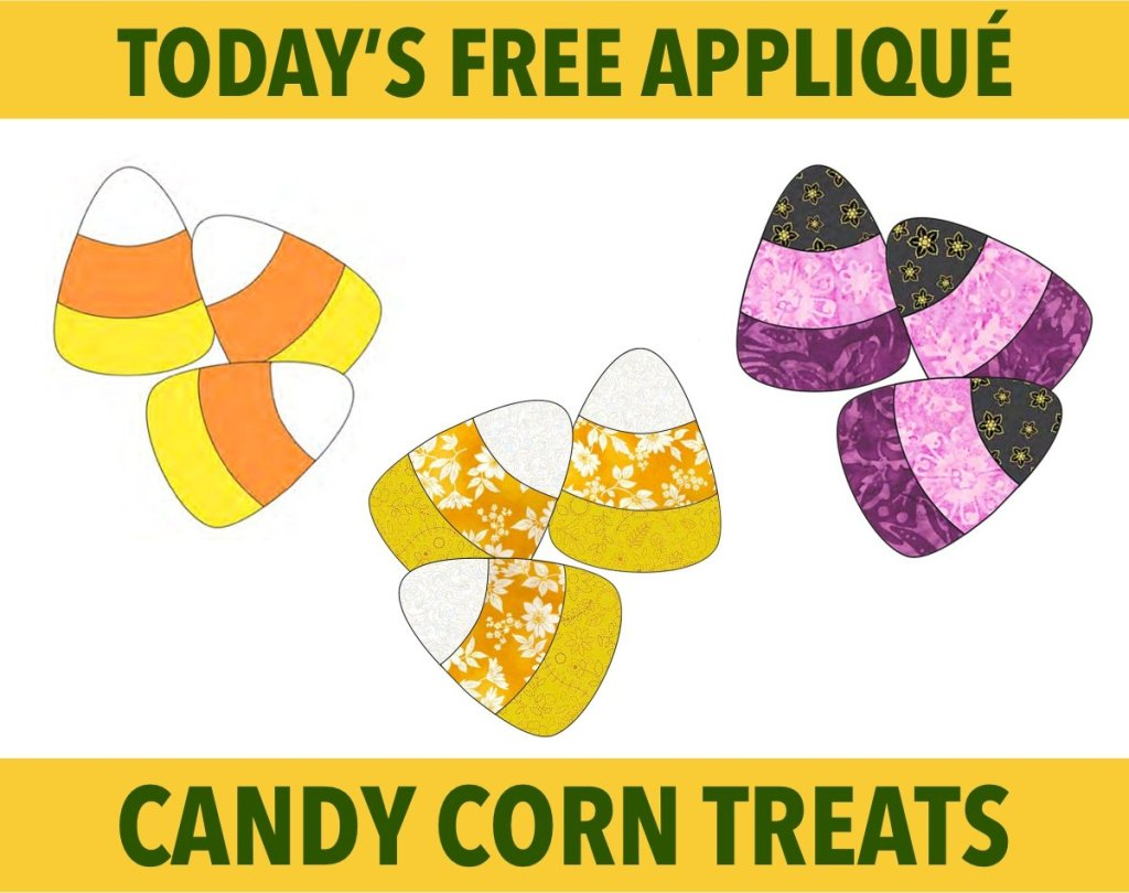 Candy Corn Free Appliqué Pattern for Halloween