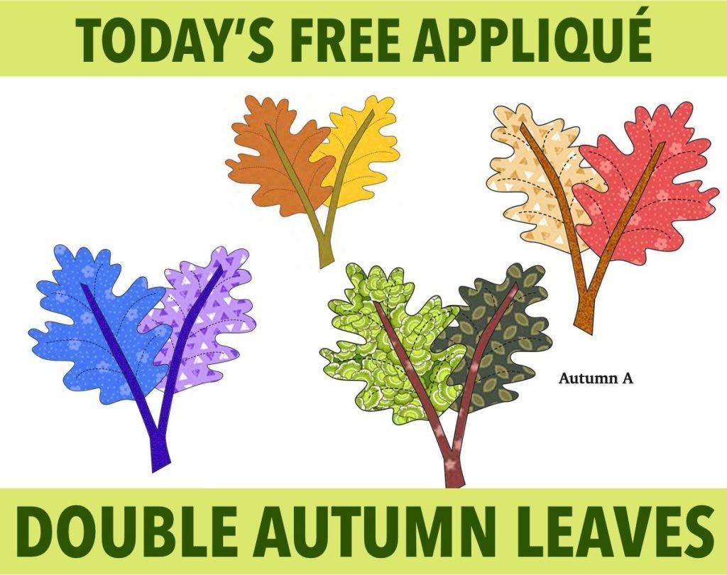 Free Autumn Appliqué Pattern - Fall Leaves