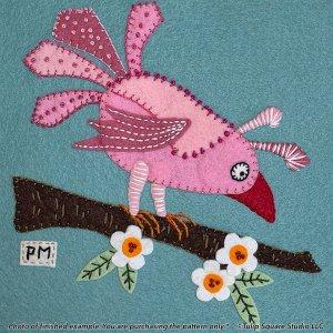 Silly Bird 3 Felt Appliqué Pattern