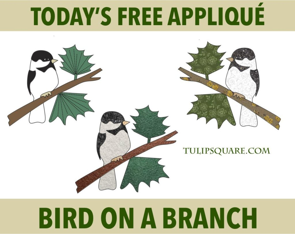Free Appliqué Pattern - Bird on a Branch