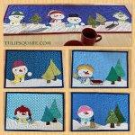 snowman-applique