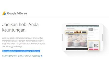 Alasan blog belum memenuhi syarat untuk google adsense