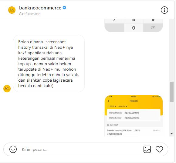 gagal transfer bank neo+