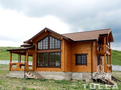 Строительство дома из клееного бруса рядом с Пятигорском ...
