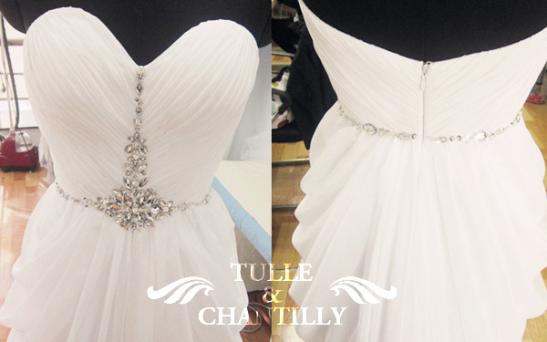 {Process Show Time} Seductive Strapless Ruching Beaded