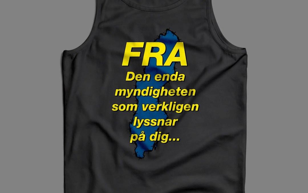 FRA - Den enda myndighet som lyssnar på dig - Premiumtanktopp herr