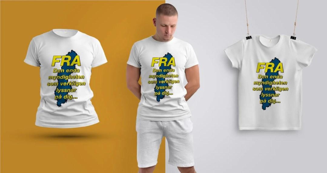 FRA - Den enda myndighet som lyssnar på dig - Premium T-shirt herr