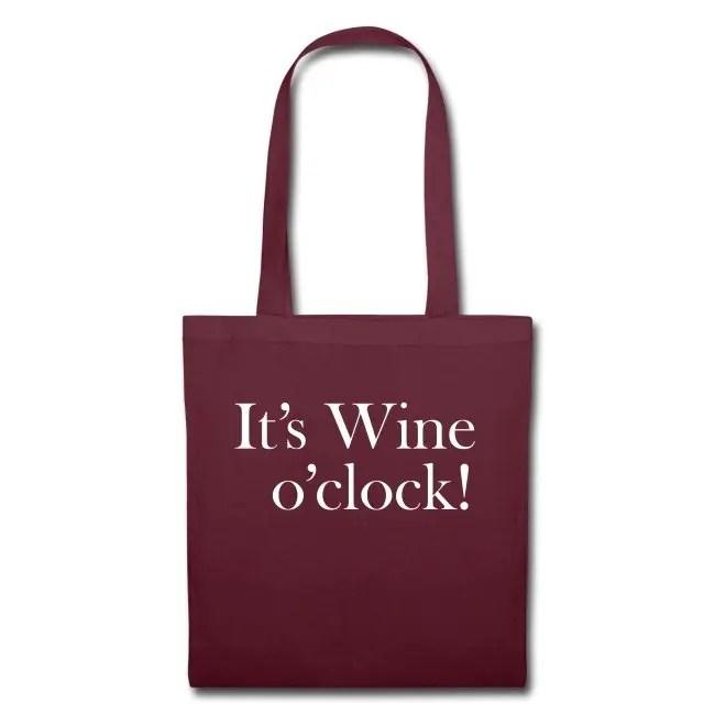 It's Wine o'clock - Tygväska