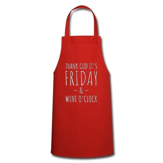 Thank God it's Friday & Wine o'clock - Förkläde