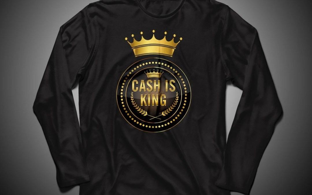 Cash is king - visa att du bojkottar kontantfria butiker och restauranger - Långärmad unisextröja