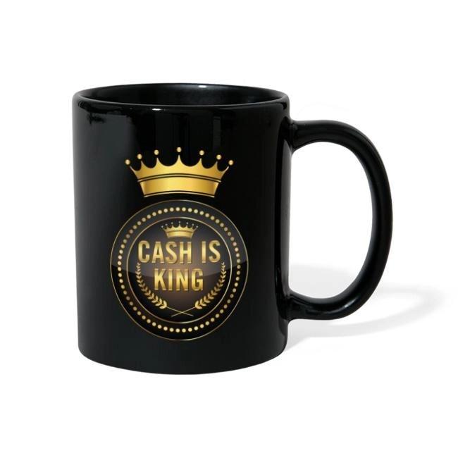 Cash is king - visa att du bojkottar kontantfria butiker och restauranger - Enfärgad mugg