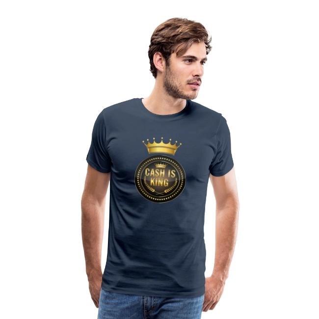 Cash is king - visa att du bojkottar kontantfria butiker och restauranger - Premium T-shirt herr