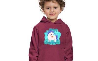 Enhörning med partyhatt – söt tröja för barn