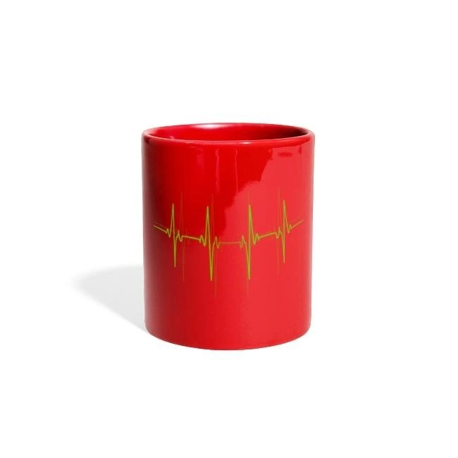 EKG - Färgad panoramamugg
