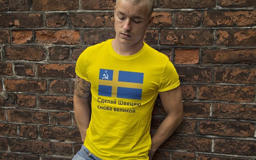 Make Sweden Great Again - På ryska - Premium T-shirt herr