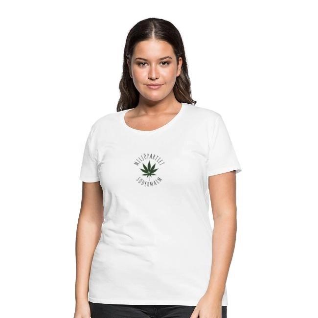 Miljöpartiet Södermalm Cannabis - Premium T-shirt dam