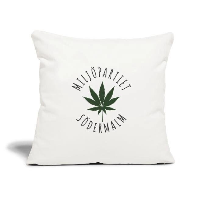 Miljöpartiet Södermalm Cannabis - Soffkuddsöverdrag, 45 x 45 cm