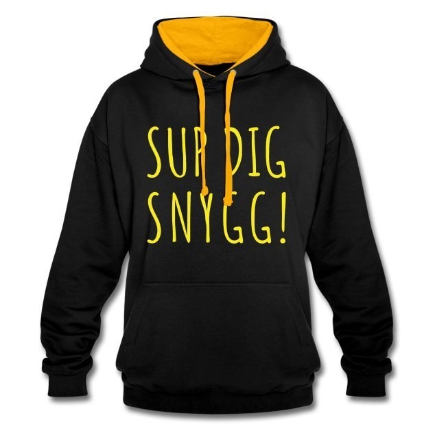 Sup Dig Snygg - Kontrastluvtröja av unisexmodell