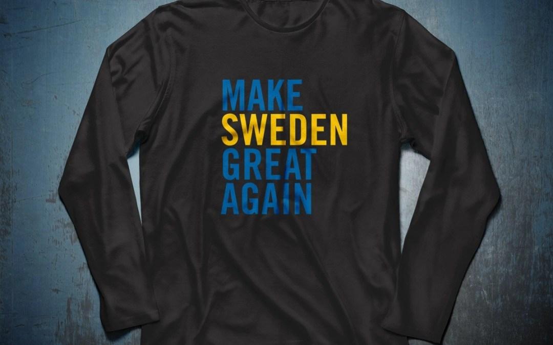 Make Sweden Great Again - Ekologisk sweatshirt herr
