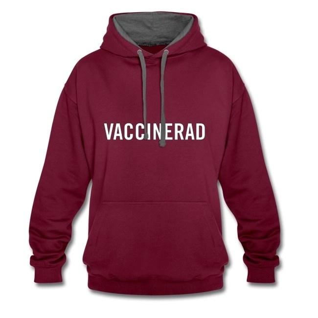 Vaccinerad - Kontrastluvtröja Hoodie Unisexmodell