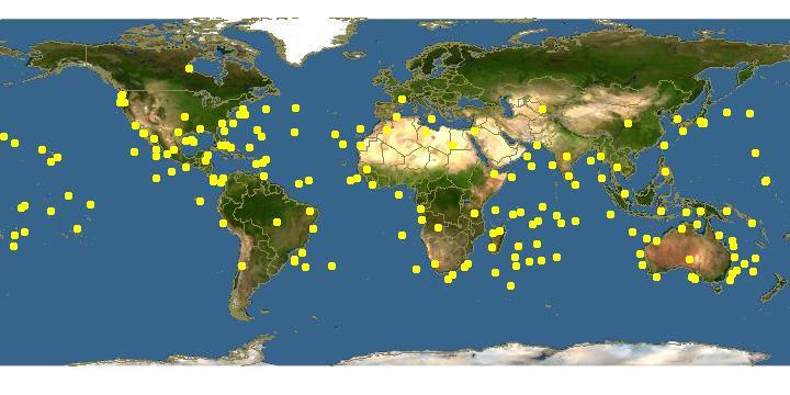 Mahi-mahi Dağılım Haritası