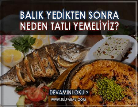 Balık Yedikten Sonra Tatlı Yenir mi ?