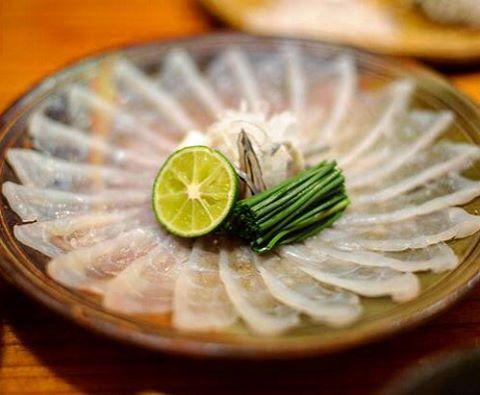 Fugu balığı sashimi