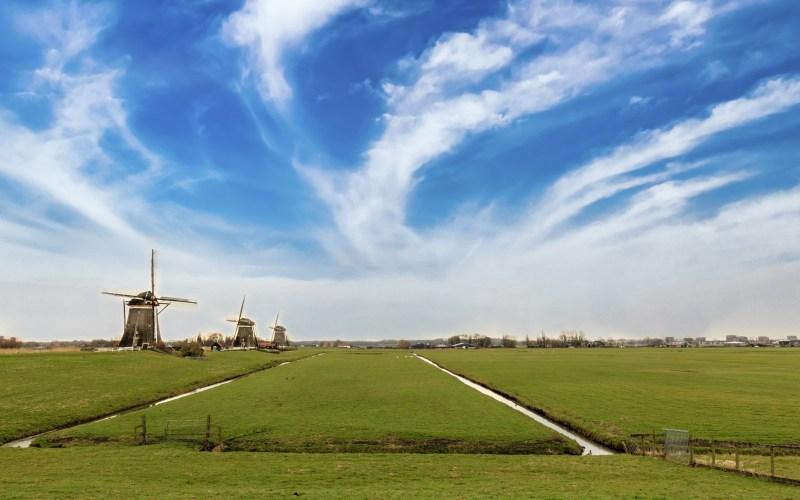 Landschaft von Amsterdam
