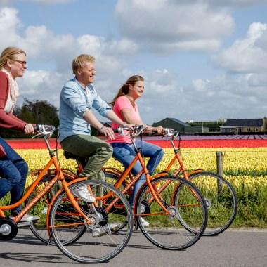 Keukenhof-Radwege entlang der Tulpenfelder in Holland